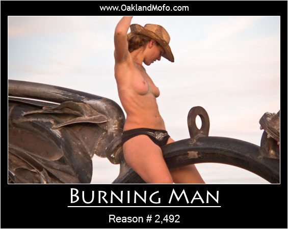 Burning Man Motivation Poster
