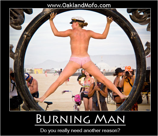 Burning Man Motivational Poster