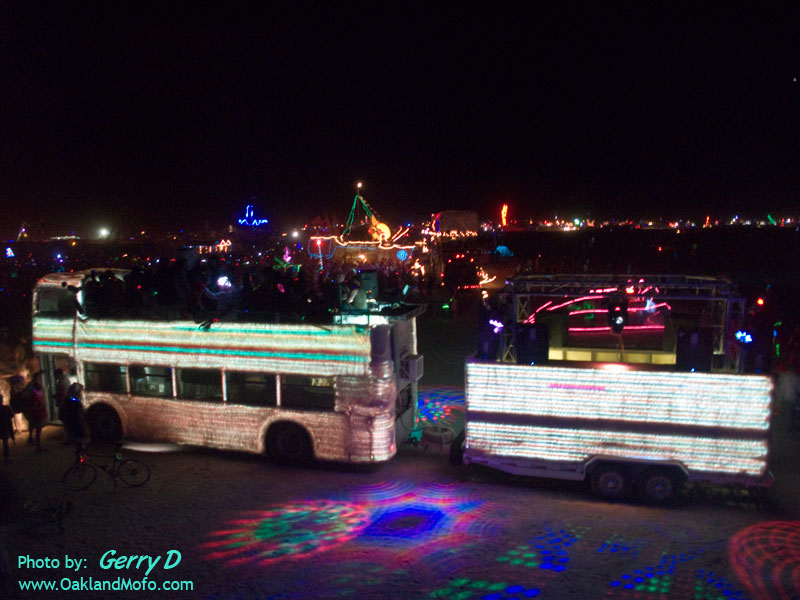 Sand Ship Party Bus Art Car Green Fuzzy