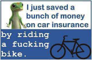 saved money on my car insurance riding a bike