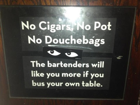 no douchebags