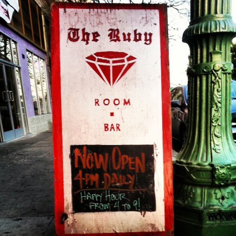 ruby room sign