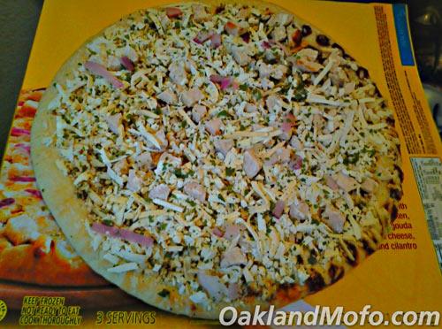 uncooked frozen pizza