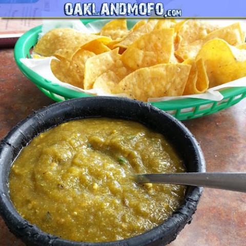 la estrellita chips salsa verde