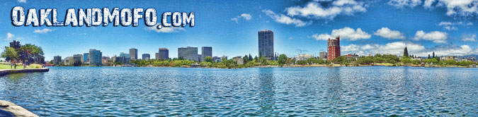 panoramic view of lake merritt