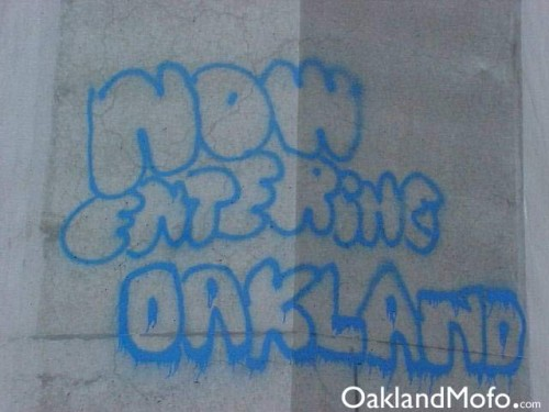 now entering oakland