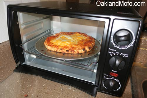 pizza in toaster oven