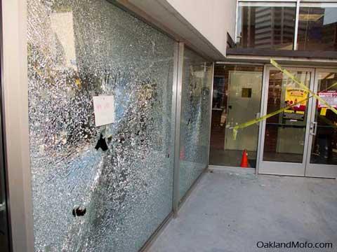 chase bank broken window