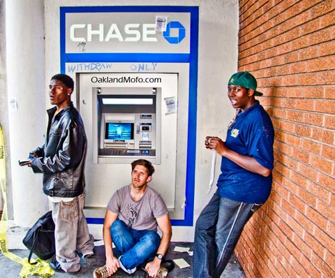 chase bank protest oakland