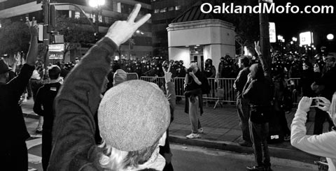 peaceful protest oakland riots