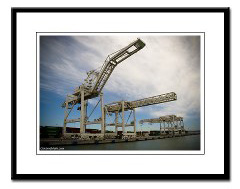 port of oakland cranes photo