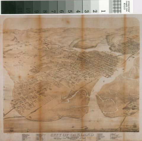 old map of lake merritt