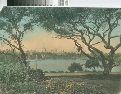 vintage lake merritt postcard